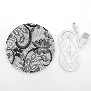 Black lace wireless charger - Decouart
