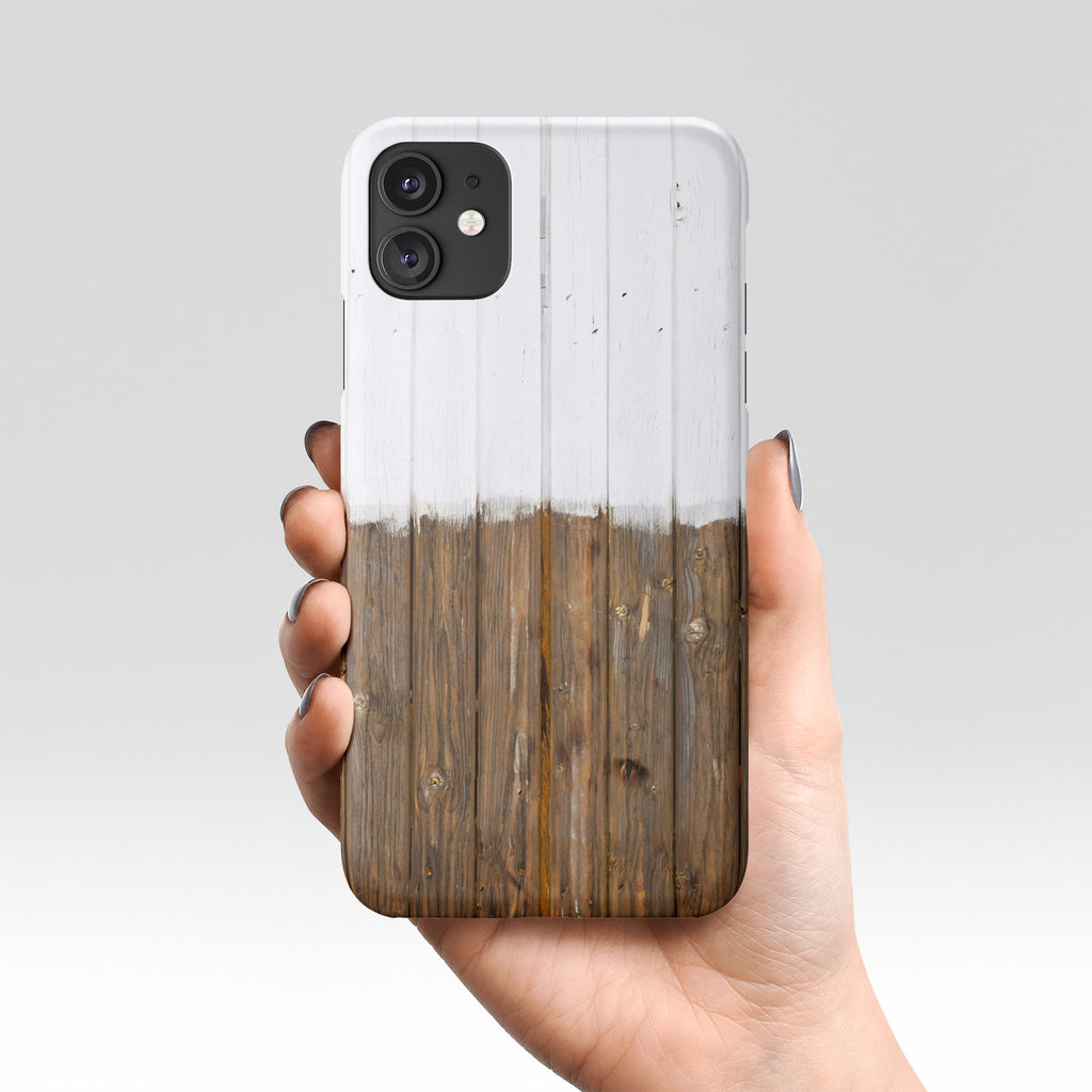 White wood iPhone case