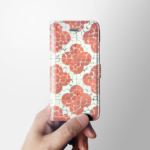 Floral iPhone 7 wallet case W011