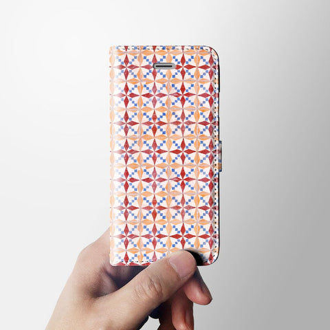 Floral iPhone 7 wallet case W012