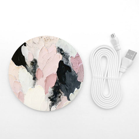 Abstract painting wireless charger - Decouart