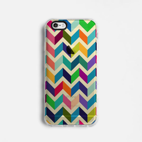 Chevron clear printed iPhone 7 case S013