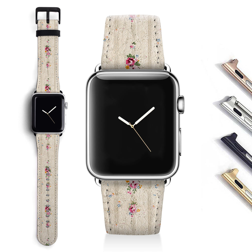 Floral Designer Apple watch band S013