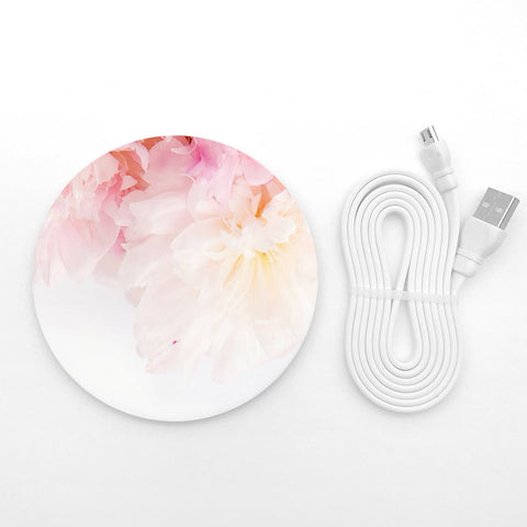 Pastel floral wireless charger