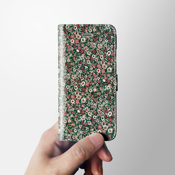 Floral iPhone 7 wallet case W014 - Decouart