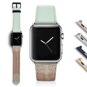 Lace wood Designer Apple watch band S016