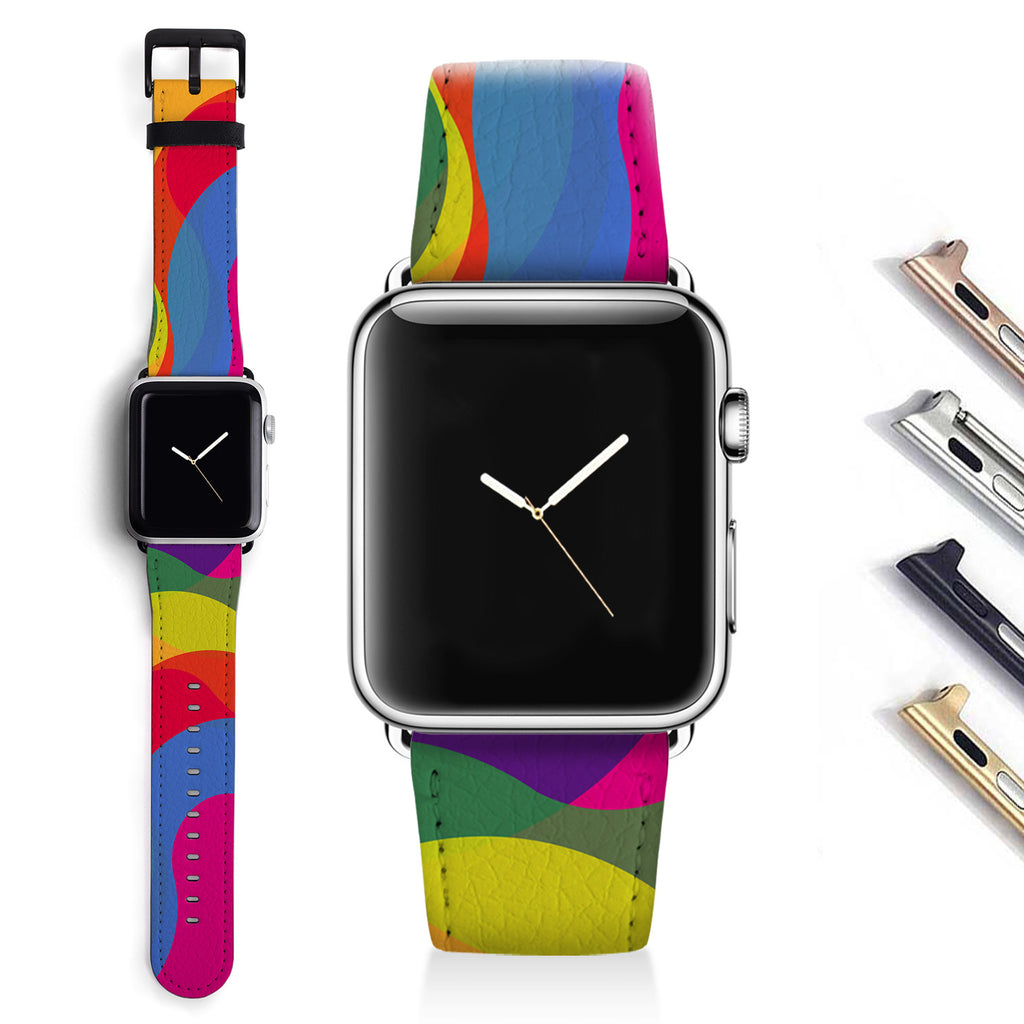 Abstract Designer Apple watch band S019