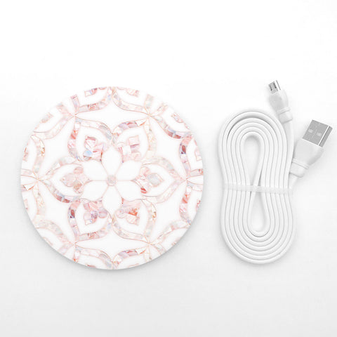 Floral marble wireless charger