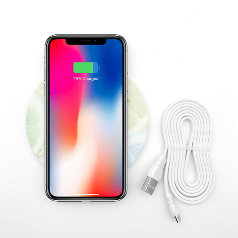 Pastel fruits wireless charger