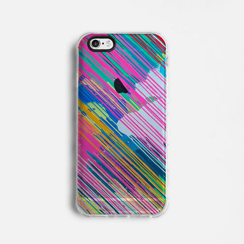 Colourful paint clear printed iPhone 7 case S025 - Decouart