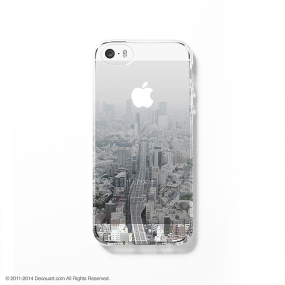 Tokyo cityscape clear printed iPhone 7 case S049 - Decouart - 1