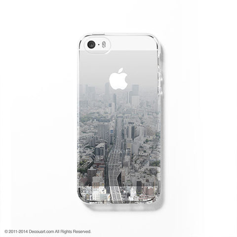 Tokyo cityscape clear printed iPhone 7 case S049 - Decouart