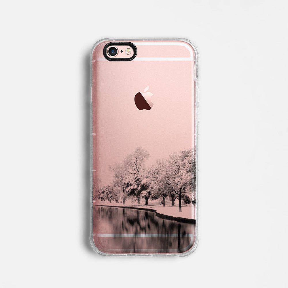 Snowy landscape skyline iPhone 11 case C059 - Decouart