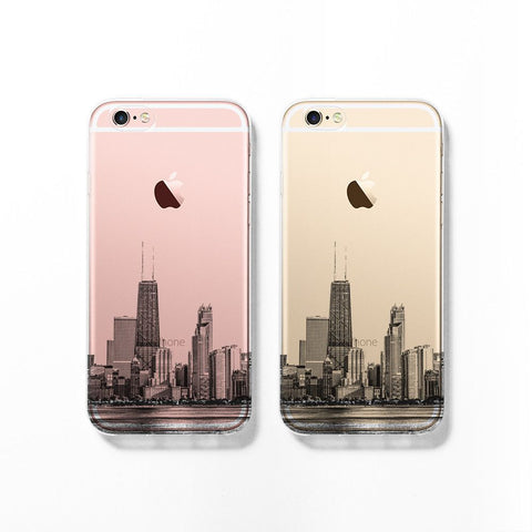 Chicago skyline iPhone 7 case C060 - Decouart