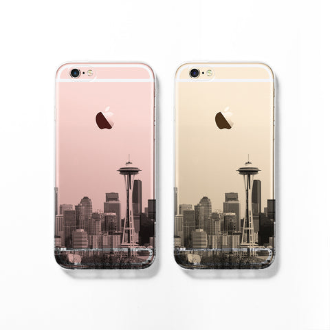 Seattle skyline iPhone 7 case C061 - Decouart