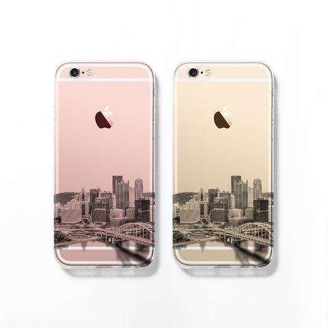 Pittsburgh skyline iPhone 7 case C066 - Decouart - 1