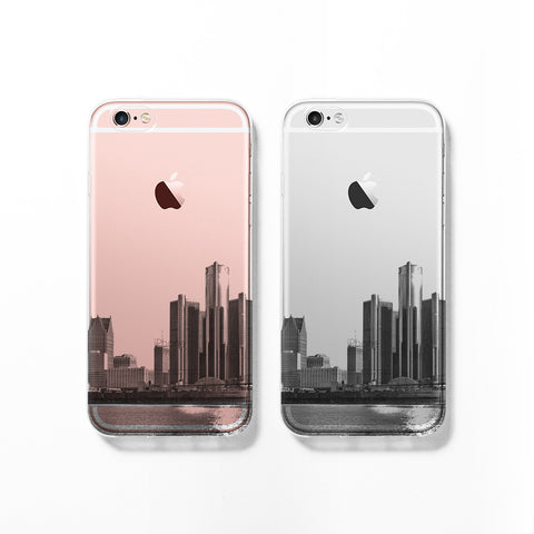 Detroit skyline iPhone 7 case C070 - Decouart