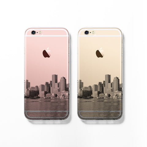 Boston skyline iPhone 7 case C071 - Decouart