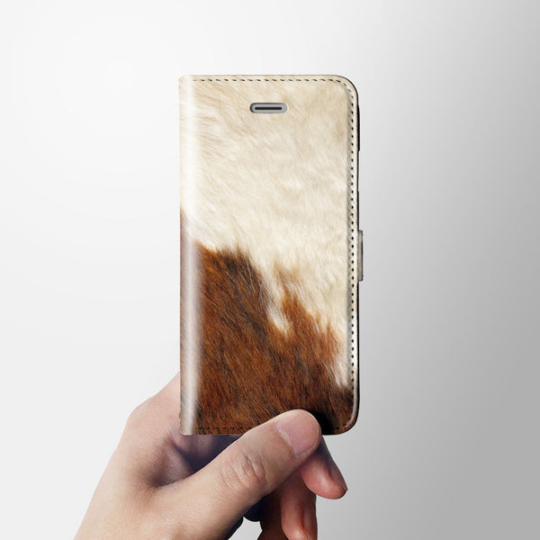 Fur texture iPhone 7 wallet case W071 - Decouart