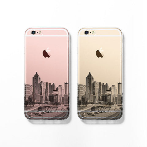 Atlanta skyline iPhone 7 clear case C073 - Decouart
