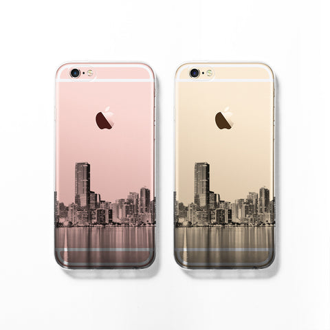 Miami skyline iPhone 7 case C075 - Decouart