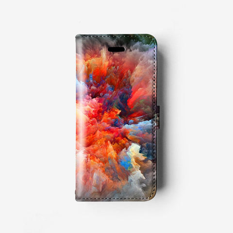 Abstract landscape iPhone wallet case W076 - Decouart