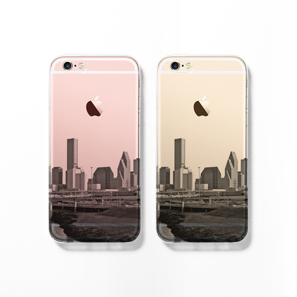 Houston skyline iPhone 11 case C077 - Decouart