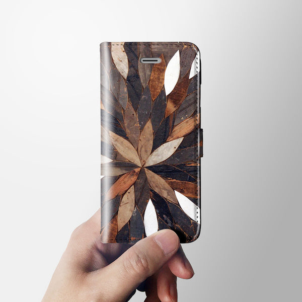 Natural leafs iPhone 7 wallet case W088 - Decouart