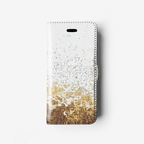 Abstract iPhone wallet case W089 - Decouart