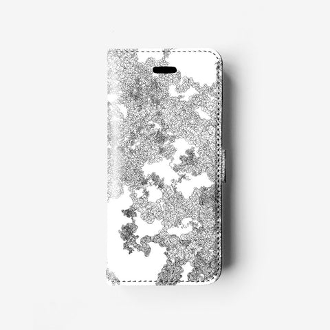 Organic lines iPhone 7 wallet case W098 - Decouart