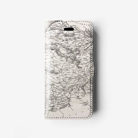Organic lines iPhone 7 wallet case W099 - Decouart