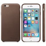 Personalized iPhone 7 leather case - Brown