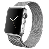 Apple watch band, Decouart Black Milanese loop Stainless Steel Bracelet for 42mm 38mm - Decouart
