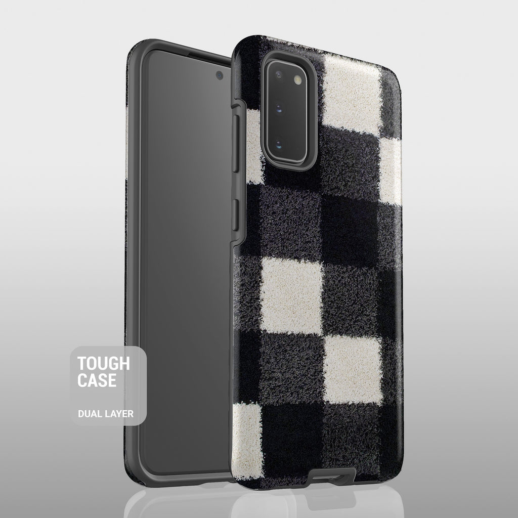 Black and white checkers Samsung case S293B