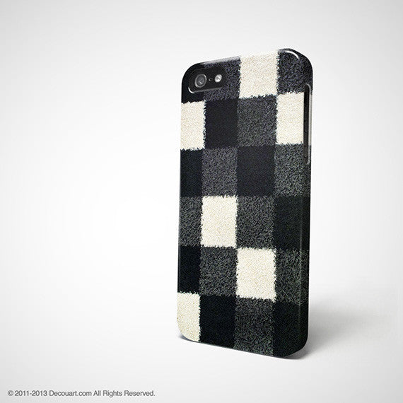 Black and white checkers iPhone 7 case, iPhone 7 Plus case S293B - Decouart - 1