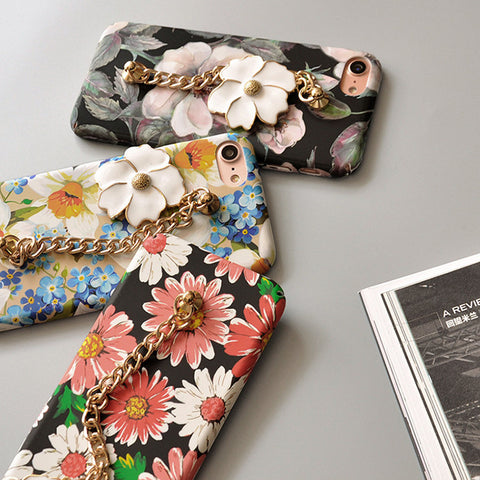 Floral iPhone bracelet case - Decouart