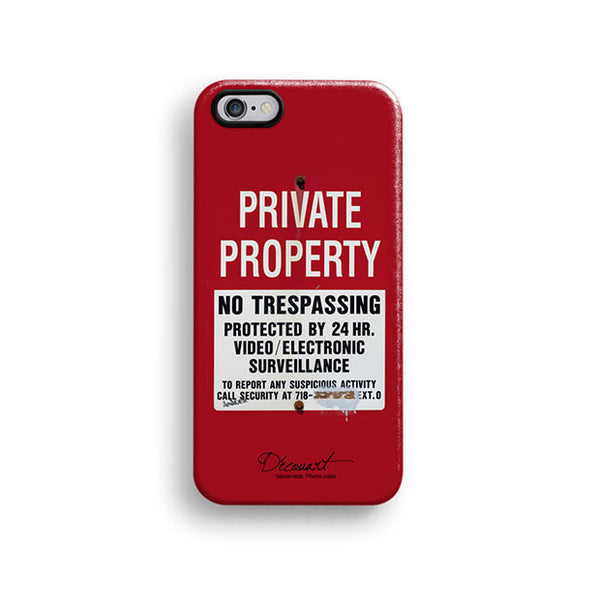 Private property warning iPhone 7 case, iPhone 7 Plus case S323 - Decouart - 1