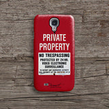Private property warning iPhone 7 case, iPhone 7 Plus case S323 - Decouart - 4