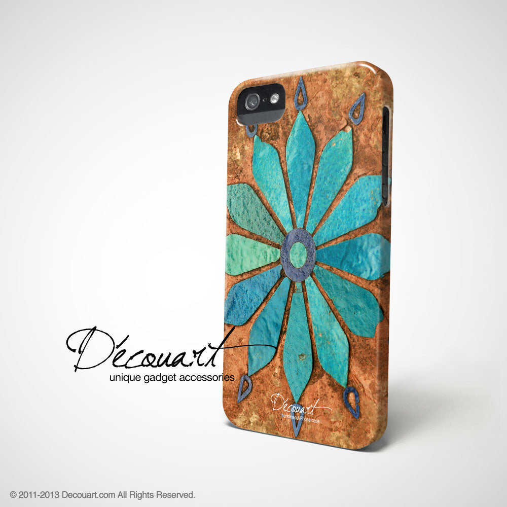 Mint floral iPhone 11 case S329 - Decouart
