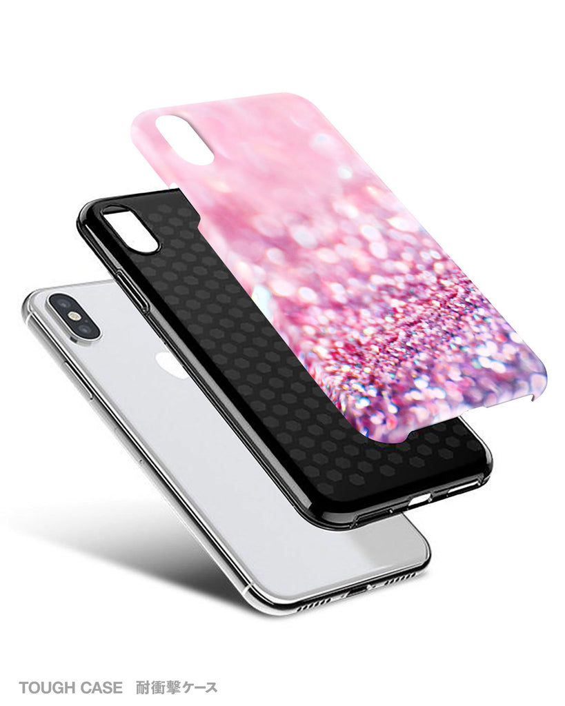 Pink sparkle iPhone 12 case S384C - Decouart