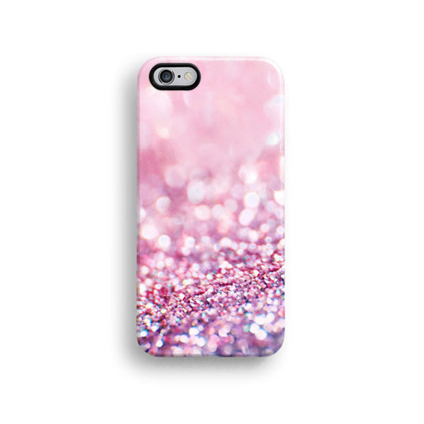 Pink sparkle iPhone 7 case, iPhone 7 Plus case S384C - Decouart - 1