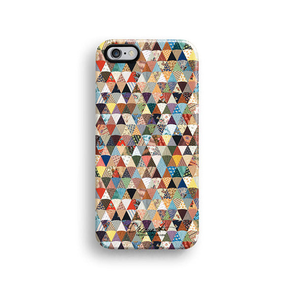 Colourful quilt iPhone 6 case, iPhone 6 plus case S398 - Decouart - 1