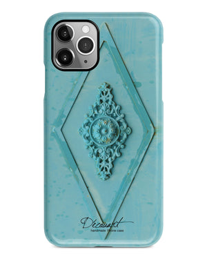 Mint floral mural iPhone 11 case S439 - Decouart