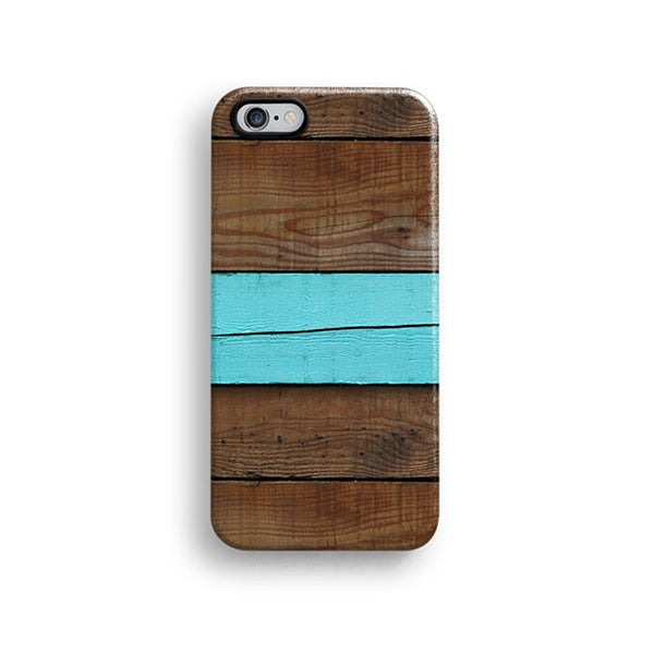 Mint stripe wood iPhone 7 case, iPhone 7 Plus case S460B - Decouart - 1