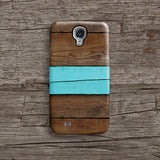Mint stripe wood iPhone 11 case S460B - Decouart