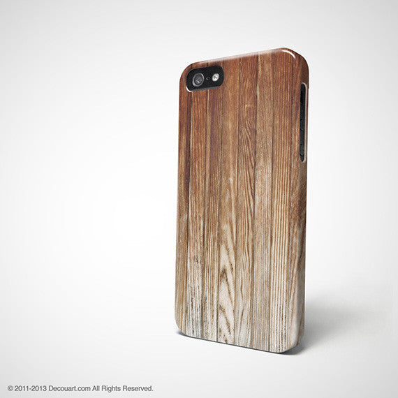 Brown wood iPhone 11 case S461B - Decouart