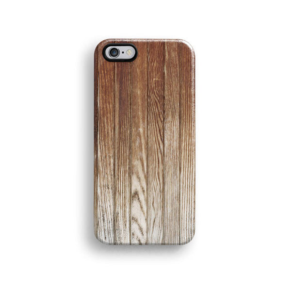 Brown wood iPhone 7 case, iPhone 7 Plus case S461B - Decouart - 1