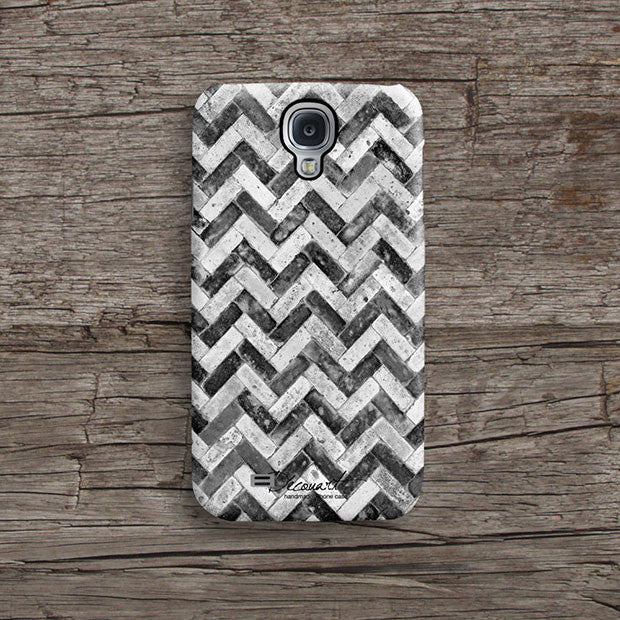 Black grunge chevron iPhone 11 case S465 - Decouart