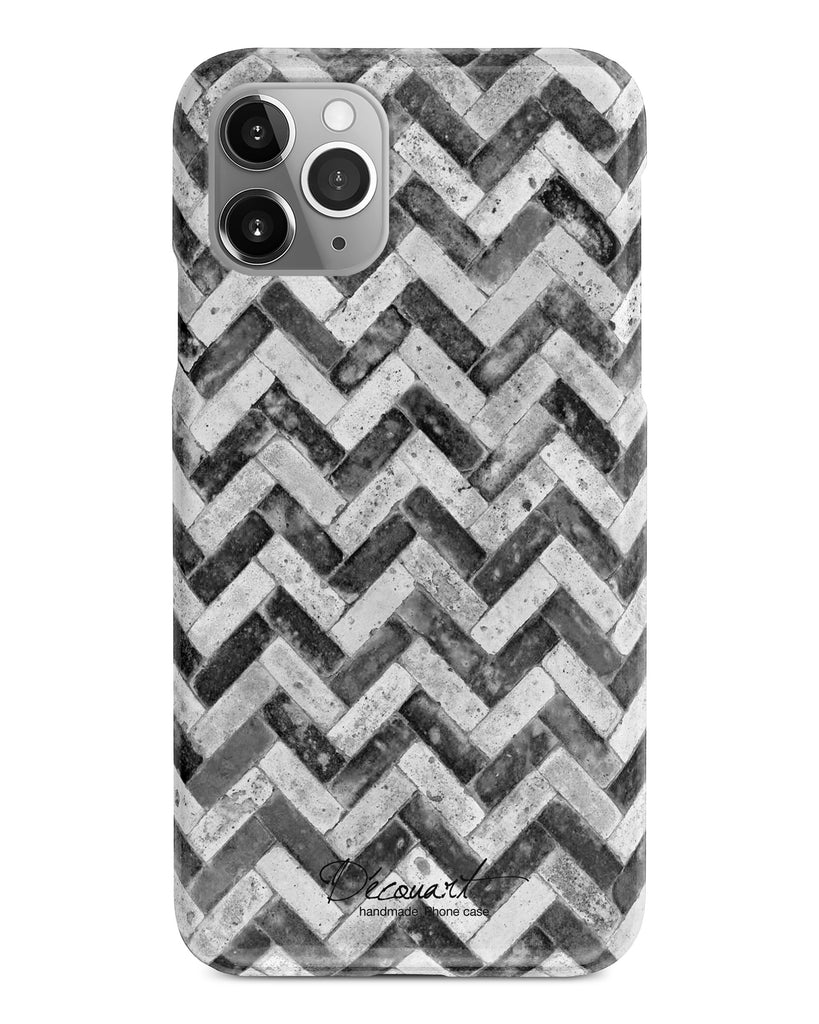 Black grunge chevron iPhone 11 case S465