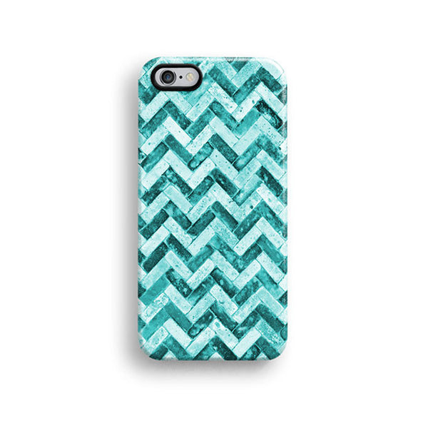 Mint grunge chevron iPhone 6 case, iPhone 6 plus case S466 - Decouart - 1